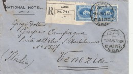 RACCOMANDATA 1925 DA EGITTO PER VENEZIA - TIMBRO CAIRO -VENEZIA (Z1600 - Egypt