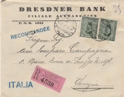 RACCOMANDATA 1932 DA EGITTO PER ITALIA TIMBRO ALESSANDRIA - AMBULANTE (Z1601 - Egypt