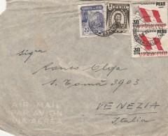 LETTERA 1951 DA PERU' PER ITALIA TIMBRO ARRIVO - ITALIA SOCIETA' DI NAVIGAZIONE (Z1610 - Perù
