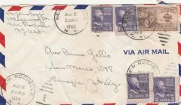 LETTERA 1950 DA USA PER ITALIA TIMBRO NEW ROCHELLE-VENEZIA-TRASCORRETE (Z1615 - Stati Uniti