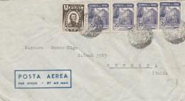 LETTERA DA PERU' PER ITALIA PLURIAFFRANCATA (Z1619 - Perù