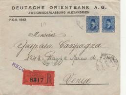RACCOMANDATA 1930 DA EGITTO PER ITALIA TIMBRI VENEZIA NAPOLI (Z1620 - Egypt