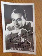 PHOTO AVEC DEDICACE DE LUCIEN HUBERTY 1949 ( STUDIO ROBERT ) - Autographes