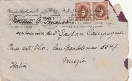 RACCOMANDATA 1926 DA EGITTO PER ITALIA TIMBRO ALEXANDRIA GRAND EXPOSITION LE CAIRE (Z1623 - Egypt