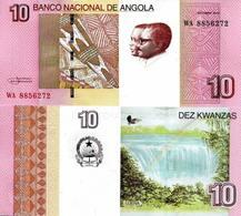 ANGOLA 5 PCS X 10 Kwanzas Banknote UNC Currency - Angola