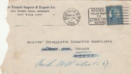 LETTERA 1928 DA USA PER ITALIA TIMBRO NEW YORK -CHIOGGIA VENEZIA (Z1629 - Stati Uniti