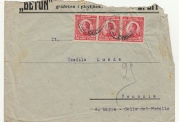 LETTERA CIRCA 1930 DA REGNO CROAZIA SLOVENIA -STRAPP IN ALTO (Z1640 - 1931-1941 Regno Di Jugoslavia