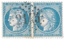 TIMBRES N°60/1 ;  PAIRE  34/35  B2 ; 1er ÉTAT ; TTB - 1871-1875 Cérès