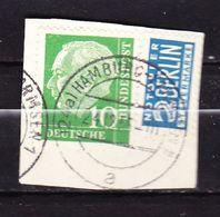 Briefstueck, EF Heuss + Notopfer, OT Hamburg-Farmsen 1, 1955 (57676) - [7] Repubblica Federale