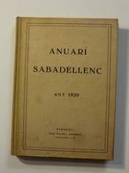 Anuari Sabadellenc. Any 1929. (història Local) - Libros, Revistas, Cómics