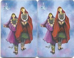 Oman - Chip - Omani Costume Sharqiya - 03.2003, 2 Chip Variations! Both Used - Oman