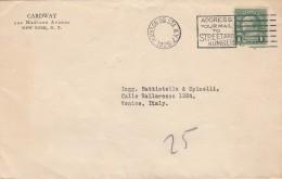 LETTERA 1925 DA USA PER ITALIA -TIMBRO MADISON SQ. (Z1740 - Stati Uniti