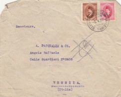 LETTERA 1927 DA EGITTO PER ITALIA TIMBRO LLYOD TRIESTE - VENEZIA-NON PERFETTA (Z1742 - Egypt