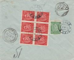 RACCOMANDATA 1932 DA JUGOSLAVIA PER ITALIA TIMBRO BLED VENEZIA-STRAPPO IN ALTO (Z1756 - 1931-1941 Regno Di Jugoslavia