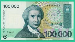 100 000 Dinar - Croatie - 1993 - N° B9291425 - Neuf - - Croacia
