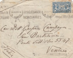 LETTERA 1927 DA FRANCIA PER ITALIA TIMBRO PL.GRIMALDI-VENEZIA CONCORSO NAZIONALE (Z1766 - Storia Postale