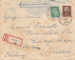 RACCOMANDATA 1930 DA GERMANIA PER ITALIA TIMBRO BAYREUTH VENEZIA BRENNERO BOLOGNA (Z1770 - Brieven En Documenten