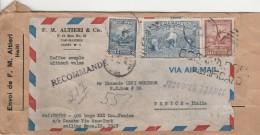 RACCOMANDATA 1949 DA HAITI PER ITALIA  (Z1853 - Haiti