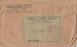 LETTERA DA GIAPPONE PER ITALIA TIMBRO ROSSO (Z1877 - 1926-89 Imperatore Hirohito (Periodo Showa)