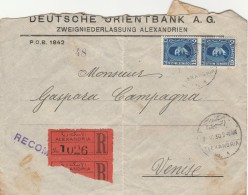 RACCOMANDATA 1930 DA EGITTO PER VENEZIA TIMBRO ALEXANDRIA-BRINDISI -VENEZIA (Z1880 - Egypt