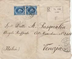 RACCOMANDATA 1927 DA EGITTO PER ITALIA TIMBRO CAIRO VENEZIA (Z1885 - Egypt
