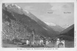 """08520 """"(AO) PONT VALSAVARANCGE M. 1541 - LA CURE ET L'EGLISE EN ARRIVANT"""" FOTO E. BIONAZ - CURE 1927. CART NON SPED - Italia"""