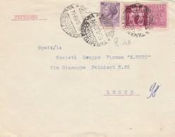 ESPRESSO 1958 CON 25+75 LIRE TIMBRO TARANTO (Z1975 - 6. 1946-.. Repubblica
