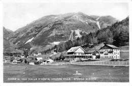 """08521 """"(AO) COGNE M. 1534 - GRUPPO VILLE - SFONDO MINIERA"""" ANIMATA VERA FOTO. CART  SPED 1962 - Italia"""