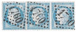 TIMBRES N°60/1 ; BANDE DE TROIS  38/39/40  B2 ; VARIÉTÉS TRÉS DIFFFÉRENTES SUIVANT TIRAGE; TTB - 1871-1875 Cérès