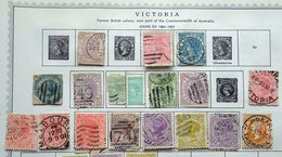 Victoria Mint/Used Selection, Shades, SOTN Socked On The Nose Postmarks, Etc. - Oblitérés