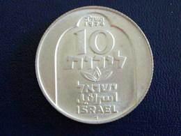 Israel 10 Lirot 1974 Argent - Israel