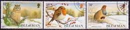 ISLE OF MAN 1988 SG 396-98 Compl.set Used Christmas. Manx Birds - Isle Of Man