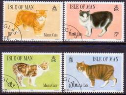 ISLE OF MAN 1989 SG 399-402 Compl.set Used Manx Cats - Isle Of Man