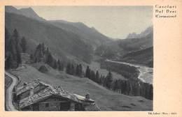 """08522 """"(AO) CASOLARI DAL NEVI - CORMAIORE DAL 1939 AL 1946"""" VEDUTA, FRANCOBOLLO LIRE 2 PASCHETTO. CART  SPED 1948 - Italia"""