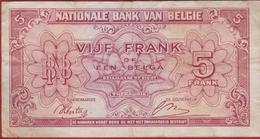 Série 1944 Cinquante 50 Francs Verso FRANCE Bankbiljet Banknote Billet - [ 2] 1831-... : Royaume De Belgique