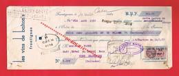 1 Lettre De Change & FRONTIGNAN Hérault LES VINS DE BALTON'S - Bills Of Exchange
