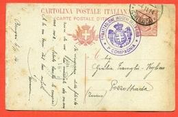 INTERI POSTALI-PER POZZOSPADAI--C44/7-POSTA MILITARE-BENGASI-CIRENAICA-TIMBRO 1° BATTAGLIONE INDIGENI DELLA LIBIA-1° C - 1900-44 Vittorio Emanuele III