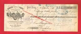 1 Lettre De Change & YVRY Val-de-Marne L VENEQUE 50 Rue Du Milieu Bougie - Bills Of Exchange