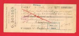 1 Lettre De Change & CAEN Calvados G SOSSON 28 Rue Des Carmélites Denrées Coloniales Epicerie - Bills Of Exchange