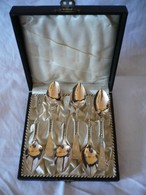 6 Tee-Löffel In Org. Schatulle - 800er Silber, älter (642) - Silberzeug