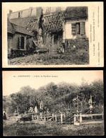 80  GUERBIGNY L' Allée Du Pré Saint Jacques, Maison Bombardée Près De L'usine  (2 Cartes) - France
