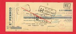 1 Lettre De Change & PARIS Etablissements PERNOD - Bills Of Exchange