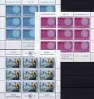 EUROPA 1970 Jugoslawien 1379/0 KB+1407 Kleinbogen ** 75€ Sonne Flecht-Motiv WWF Blocs CEPT Sheetlets Bf JUGOSLAVIJA - Europa-CEPT
