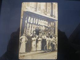 Maison Ch.duchemin A. Millet Successeur Belle Devanture De Boucherie Carte Photo - France