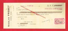 1 Lettre De Change & CHANU Orne Nicolas FREBET Alcool - Bills Of Exchange