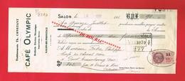 1 Lettre De Change & SALON DE PROVENCE Etablissements CONSTANT Café OLYMPIC - Bills Of Exchange