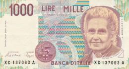 BANCONOTA ITALIA 1000 LIRE MONTESSORI -XF (Z1513 - [ 2] 1946-… : Repubblica