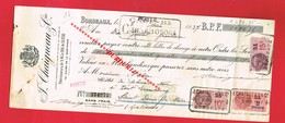 1 Lettre De Change & BORDEAUX CHAIGNEAU 76 Cours De La Martinique Vin Alcool - Bills Of Exchange