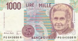 BANCONOTA ITALIA 1000 LIRE MONTESSORI -XF (Z1530 - [ 2] 1946-… : République