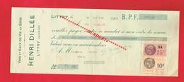 1 Lettre De Change & LITTRY Calvados H DILLEE Vin Alcool - Bills Of Exchange